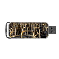 Fractal Image Of Copper Pipes Portable Usb Flash (two Sides) by Amaryn4rt