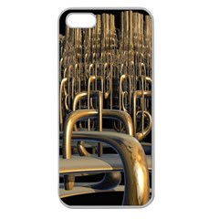 Fractal Image Of Copper Pipes Apple Seamless Iphone 5 Case (clear) by Amaryn4rt