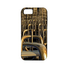 Fractal Image Of Copper Pipes Apple Iphone 5 Classic Hardshell Case (pc+silicone) by Amaryn4rt