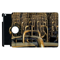 Fractal Image Of Copper Pipes Apple Ipad 2 Flip 360 Case by Amaryn4rt
