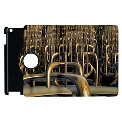 Fractal Image Of Copper Pipes Apple Ipad 3/4 Flip 360 Case by Amaryn4rt