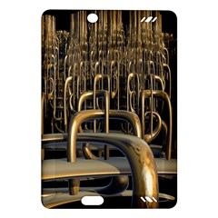 Fractal Image Of Copper Pipes Amazon Kindle Fire Hd (2013) Hardshell Case by Amaryn4rt