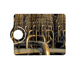 Fractal Image Of Copper Pipes Kindle Fire Hd (2013) Flip 360 Case by Amaryn4rt