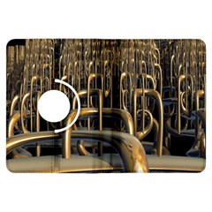Fractal Image Of Copper Pipes Kindle Fire Hdx Flip 360 Case by Amaryn4rt