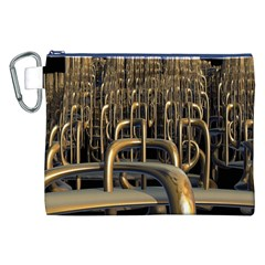Fractal Image Of Copper Pipes Canvas Cosmetic Bag (xxl) by Amaryn4rt