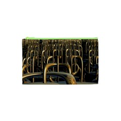 Fractal Image Of Copper Pipes Cosmetic Bag (xs) by Amaryn4rt