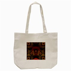 Fractal Yellow Design On Black Tote Bag (cream) by Amaryn4rt
