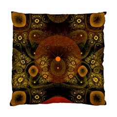 Fractal Yellow Design On Black Standard Cushion Case (two Sides) by Amaryn4rt