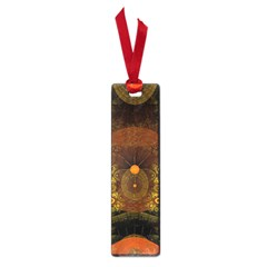 Fractal Yellow Design On Black Small Book Marks by Amaryn4rt