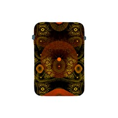 Fractal Yellow Design On Black Apple Ipad Mini Protective Soft Cases by Amaryn4rt