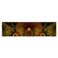 Fractal Yellow Design On Black Satin Scarf (oblong) by Amaryn4rt