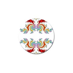 Fractal Kaleidoscope Of A Dragon Head Golf Ball Marker by Amaryn4rt