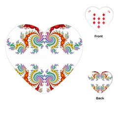 Fractal Kaleidoscope Of A Dragon Head Playing Cards (heart)  by Amaryn4rt