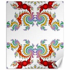 Fractal Kaleidoscope Of A Dragon Head Canvas 8  X 10  by Amaryn4rt
