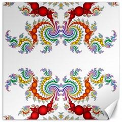 Fractal Kaleidoscope Of A Dragon Head Canvas 16  X 16   by Amaryn4rt