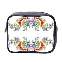 Fractal Kaleidoscope Of A Dragon Head Mini Toiletries Bag 2 Side by Amaryn4rt
