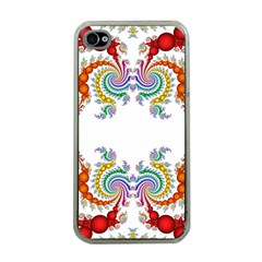 Fractal Kaleidoscope Of A Dragon Head Apple Iphone 4 Case (clear) by Amaryn4rt