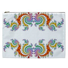 Fractal Kaleidoscope Of A Dragon Head Cosmetic Bag (xxl)  by Amaryn4rt