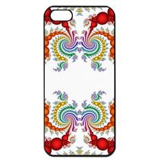 Fractal Kaleidoscope Of A Dragon Head Apple Iphone 5 Seamless Case (black) by Amaryn4rt