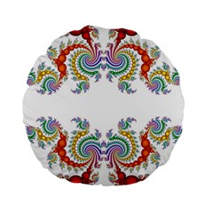 Fractal Kaleidoscope Of A Dragon Head Standard 15  Premium Round Cushions by Amaryn4rt
