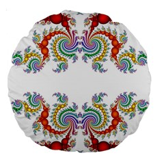 Fractal Kaleidoscope Of A Dragon Head Large 18  Premium Round Cushions by Amaryn4rt