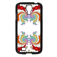 Fractal Kaleidoscope Of A Dragon Head Samsung Galaxy S4 I9500/ I9505 Case (black) by Amaryn4rt