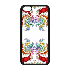 Fractal Kaleidoscope Of A Dragon Head Apple Iphone 5c Seamless Case (black) by Amaryn4rt