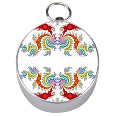 Fractal Kaleidoscope Of A Dragon Head Silver Compasses by Amaryn4rt