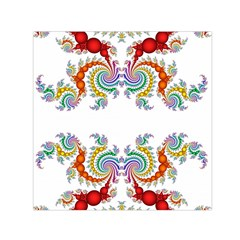 Fractal Kaleidoscope Of A Dragon Head Small Satin Scarf (square) by Amaryn4rt