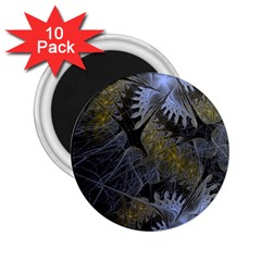 Fractal Wallpaper With Blue Flowers 2.25  Magnets (10 pack)