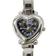 Fractal Wallpaper With Blue Flowers Heart Italian Charm Watch