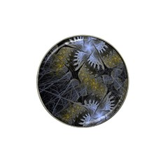Fractal Wallpaper With Blue Flowers Hat Clip Ball Marker