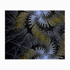Fractal Wallpaper With Blue Flowers Small Glasses Cloth by Amaryn4rt