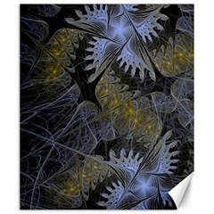 Fractal Wallpaper With Blue Flowers Canvas 20  x 24