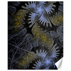 Fractal Wallpaper With Blue Flowers Canvas 11  x 14
