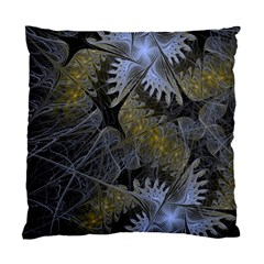 Fractal Wallpaper With Blue Flowers Standard Cushion Case (two Sides) by Amaryn4rt
