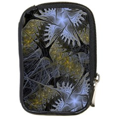 Fractal Wallpaper With Blue Flowers Compact Camera Cases
