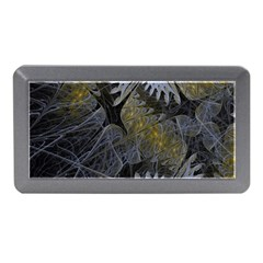 Fractal Wallpaper With Blue Flowers Memory Card Reader (Mini)