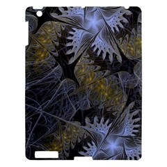 Fractal Wallpaper With Blue Flowers Apple Ipad 3/4 Hardshell Case by Amaryn4rt