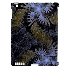 Fractal Wallpaper With Blue Flowers Apple Ipad 3/4 Hardshell Case (compatible With Smart Cover) by Amaryn4rt
