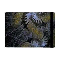 Fractal Wallpaper With Blue Flowers Apple iPad Mini Flip Case