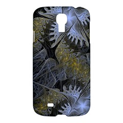Fractal Wallpaper With Blue Flowers Samsung Galaxy S4 I9500/i9505 Hardshell Case by Amaryn4rt
