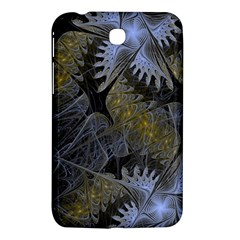 Fractal Wallpaper With Blue Flowers Samsung Galaxy Tab 3 (7 ) P3200 Hardshell Case