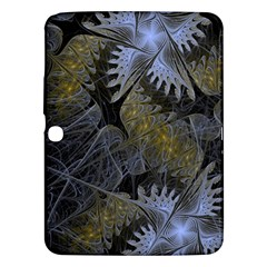 Fractal Wallpaper With Blue Flowers Samsung Galaxy Tab 3 (10 1 ) P5200 Hardshell Case  by Amaryn4rt