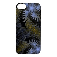 Fractal Wallpaper With Blue Flowers Apple iPhone 5S/ SE Hardshell Case