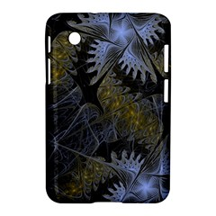 Fractal Wallpaper With Blue Flowers Samsung Galaxy Tab 2 (7 ) P3100 Hardshell Case