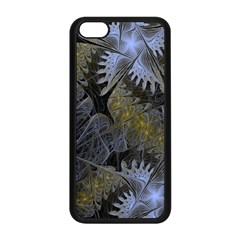 Fractal Wallpaper With Blue Flowers Apple Iphone 5c Seamless Case (black) by Amaryn4rt