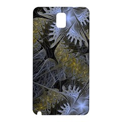 Fractal Wallpaper With Blue Flowers Samsung Galaxy Note 3 N9005 Hardshell Back Case by Amaryn4rt