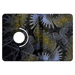 Fractal Wallpaper With Blue Flowers Kindle Fire HDX Flip 360 Case
