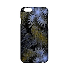 Fractal Wallpaper With Blue Flowers Apple iPhone 6/6S Hardshell Case